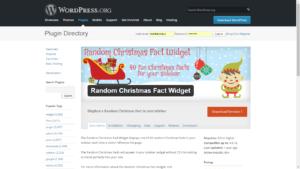 Random Christmas Fact Widget